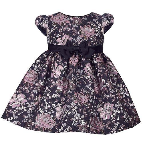 Toddler Girl Bonnie Jean Floral Brocade Dress