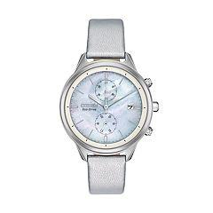 Citizen Eco-Drive Women's Chandler Vegan Leather Chronograph Watch - FB2000-03D