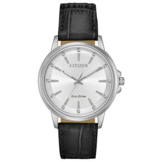 Citizen Eco-Drive Women's Chandler Crystal Leather Watch - FE7030-14A