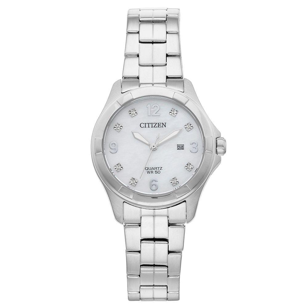 Citizen Women's Crystal Stainless Steel Watch - EU6080-58D