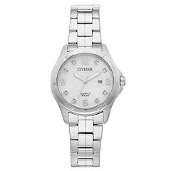 Citizen Women's Crystal Stainless Steel Watch - EU6080-58D