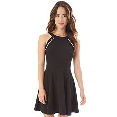 Juniors' IZ Byer Simulated Pearl Skater Dress