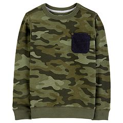 Boys 4-12 Carter's Camouflaged Pocket Pullover Top