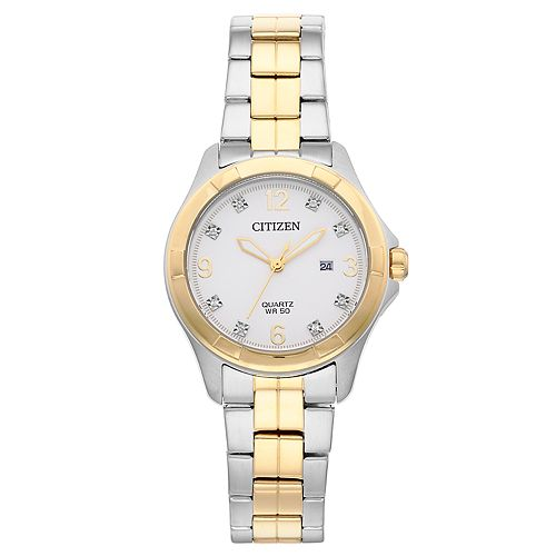Citizen Women's Crystal Two Tone Stainless Steel Watch - EU6084-57A