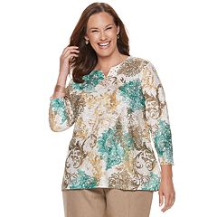Plus Size Alfred Dunner Studio Scroll Embellished Top