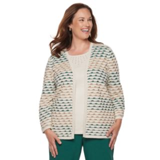 Plus Size Alfred Dunner Studio Textured Mock-Layer Sweater