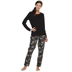 Women's SONOMA Goods for Life™ Ribbed Tee & Pants Pajama Set