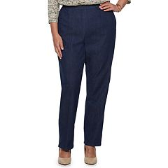Plus Size Alfred Dunner Studio Pull-On Straight Leg Jeans