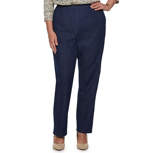 a0a0af919871a Plus Size Alfred Dunner Studio Pull-On Straight Leg Jeans