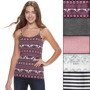 Juniors' SO® 5-pack Holiday Frenzy Cami Tank