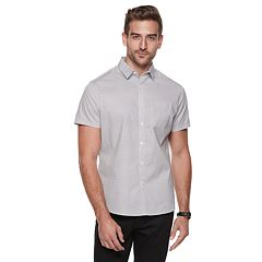 Men's Marc Anthony Slim-Fit Slubbed Textured Casual Button-Down Shirt