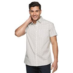 ec1dee8271 Men's Marc Anthony Slim-Fit Patterned Button-Down Shirt