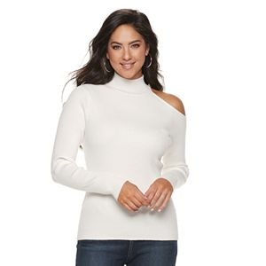 2e7506b66008fd Women s Jennifer Lopez Marled Sleeveless Turtleneck Sweater