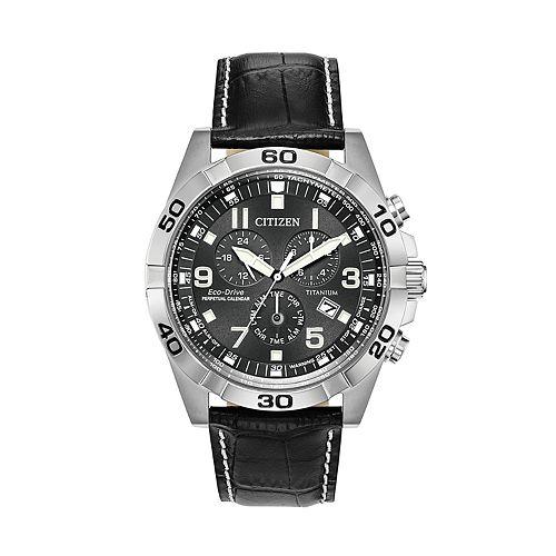 Citizen Eco-Drive Men's Super Titanium Perpetual Calendar Chronograph Watch - BL5551-14H