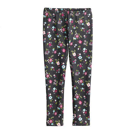 Girls 4-10 Jumping Beans® Print Full-Length Fleece Lined Leggings