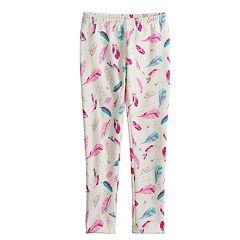 Girls 4-10 Jumping Beans® Print Full-Length Fleece Leggings