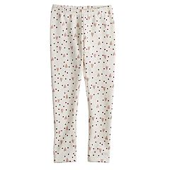 Girls 4-10 Jumping Beans® Print Full-Length Fleece Lined Leggings