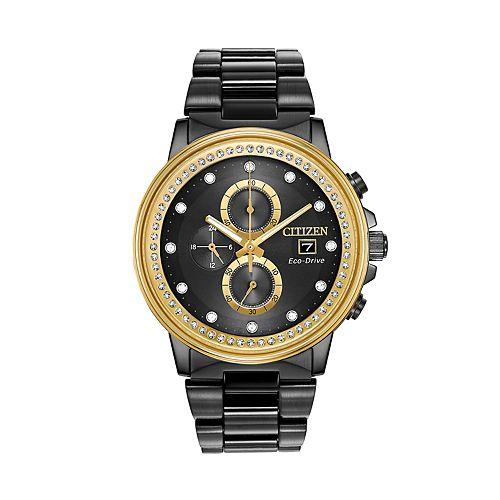 Citizen Eco-Drive Crystal Chronograph Watch - FB3008-57E