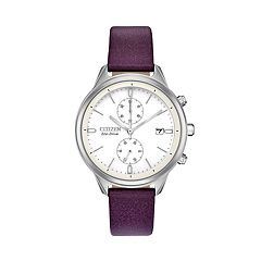 Citizen Eco-Drive Women's Vegan Leather Chronograph Watch - FB2000-11A