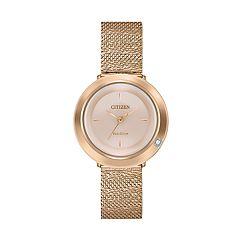 Citizen Eco-Drive Women's Diamond Accent Stainless Steel Watch - EM0643-50X