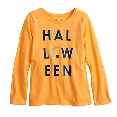 Girls 4-10 Jumping Beans® Halloween Glittery Graphic Tee