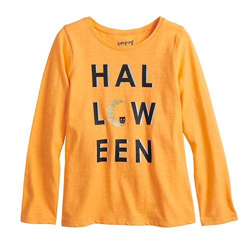 Girls 4-10 Jumping Beans® Halloween Glittery Graphic Tee