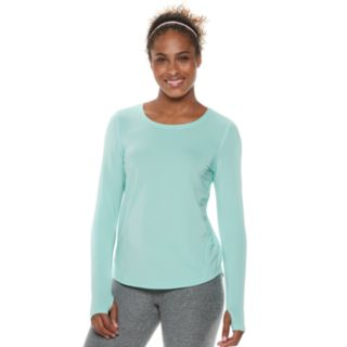 Petite Tek Gear® Thumb Hole Long Sleeve Tee