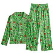Boys 4-12 Peanuts Holiday 2-Piece Pajama Set