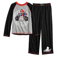 Boys 4-10 Super Mario Kart 2-Piece Pajama Set