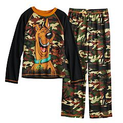 Boys 4-12 Scooby Doo Fleece 2-Piece Pajama Set