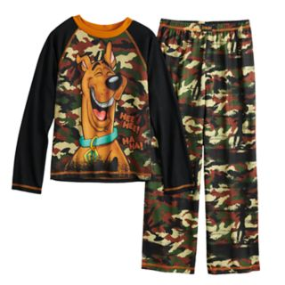Boys 4-12 Scooby Doo Fleece 2-Piece Pajama Set