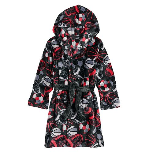 Boys 4-14 Cuddl Duds Sport Hooded Robe