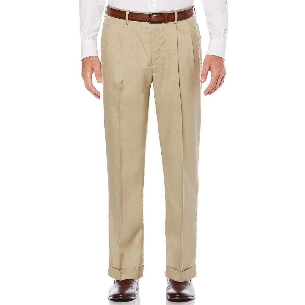 Big & Tall Savane Straight-Fit Stretch Crosshatch Pleated Dress Pants
