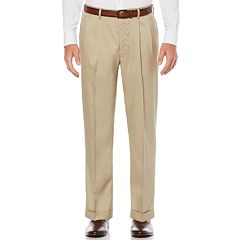 Big & Tall Savane Straight-Fit Stretch Crosshatch Pleated Dress Pants