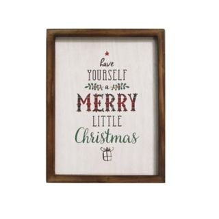 "Stratton Home Decor ""Have Yourself A Merry"" Christmas Wall Decor"