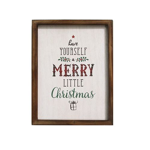 """Stratton Home Decor """"Have Yourself A Merry"""" Christmas Wall Decor"""
