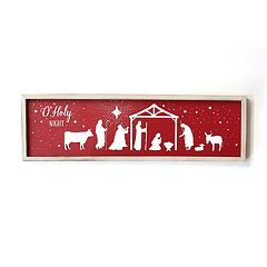 Stratton Home Decor 'O' Holy Night' Christmas Wall Decor