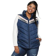 Juniors' Plus Size SO® Puffer Vest