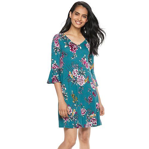 Petite Apt. 9® Bell-Sleeve A-Line Dress