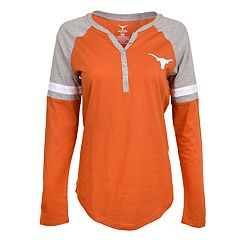 Women's Texas Longhorns Henley Tee