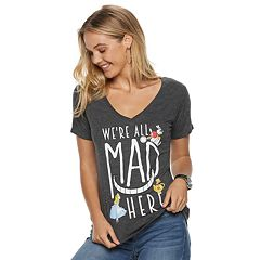 Disney's Alice in Wonderland Juniors' 'We're All Mad Here' Tee
