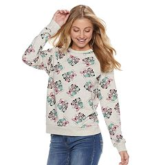 Disney's Mickey & Minnie Mouse Juniors' Allover Print Sweatshirt