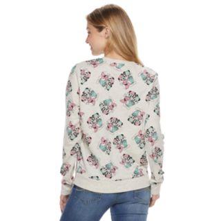 Disney's Mickey & Minnie Mouse Juniors' Allover Print Sweatshirt