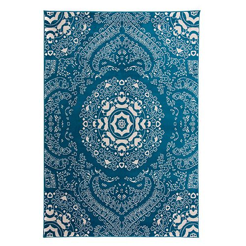 World Rug Gallery Madison Medallion Floral Transitional Rug