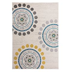 World Rug Gallery Madison Circles & Dots Medallion Contemporary Rug
