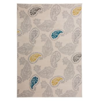 World Rug Gallery Madison Floral Paisley Contemporary Modern Rug