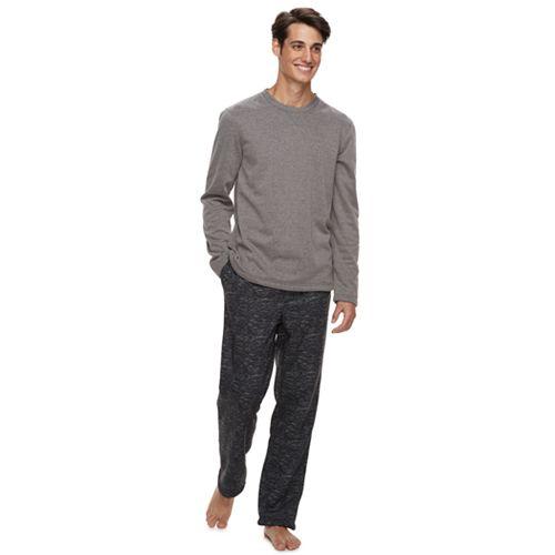 Men's Apt. 9® Cozy-Lined Crewneck Lounge Top