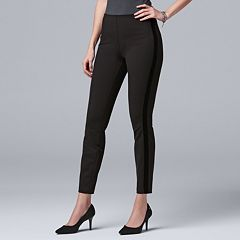 Women's Simply Vera Vera Wang Velvet-Stripe Ponte Leggings