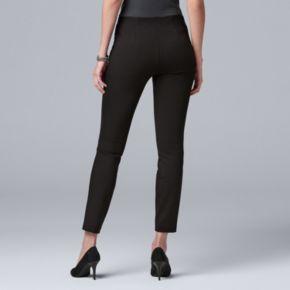 Women's Simply Vera Vera Wang Velvet-Stripe Ponte Leggings