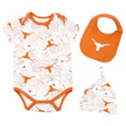 Baby Texas Longhorns 3-Piece Bodysuit Set
